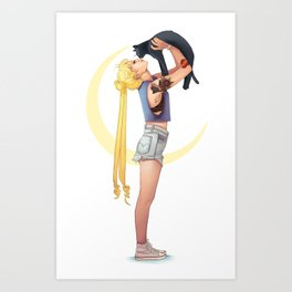 Usagi and Luna Art Print