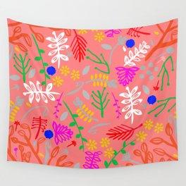 Folky garden Wall Tapestry