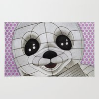 propaganda Area & Throw Rugs featuring Baby Seal Propaganda - purple by alterEGO