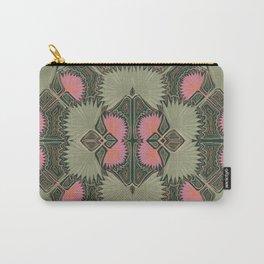 Sun Palm Art Deco Jade Carry-All Pouch