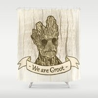 groot Shower Curtains featuring Groot by Lynn Bruce