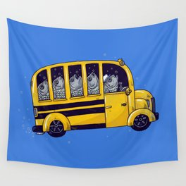 Off to School Wall Tapestry