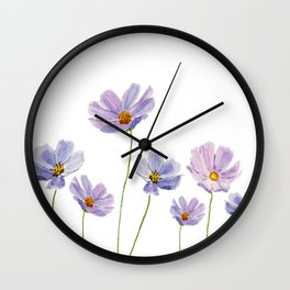 purple cosmos 2 Wall Clock
