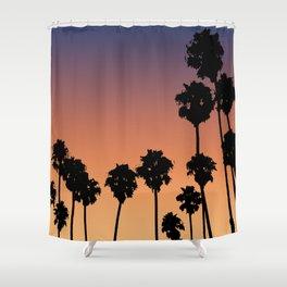 Vaporwave\\Palm Shower Curtain