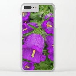 Purple Bells Clear iPhone Case