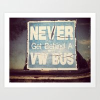 vw bus Art Prints featuring VW BUS by McKenzie Chadwell