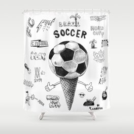 Soccer Worldcup 2014 Shower Curtain