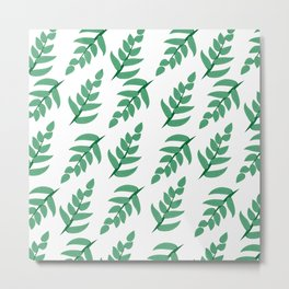 Green leaves and branch Metal Print