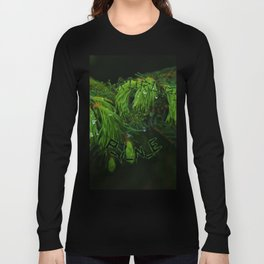 Teardrops of pine version all over print shirts Long Sleeve T-shirt