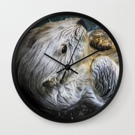 Swimming Sea Otter Wall Clock
