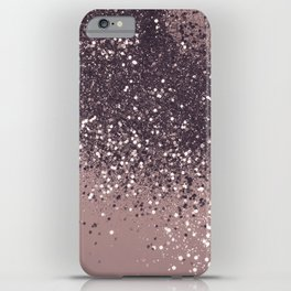Sparkling Mauve Lady Glitter #3 #shiny #decor #art #society6 iPhone Case