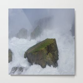 The Rock at Niagra Falls Metal Print