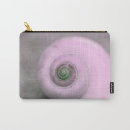 Dream of last summer III - Snail shell in pink on #Society6 Carry-All Pouch