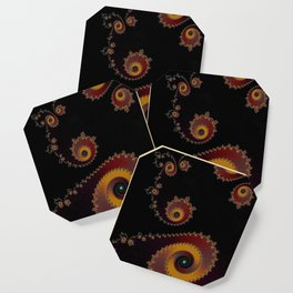 Burning Embers - Fractal Art Coaster
