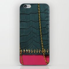 Pink Chain Clutch iPhone & iPod Skin