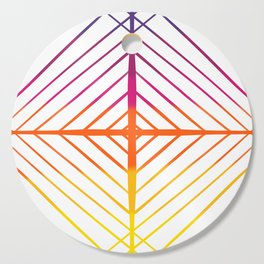 Sunset Gradient Lines Cutting Board