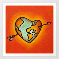 Love world Art Print