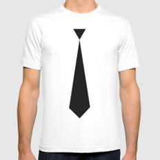 tie Mens Fitted Tee MEDIUM White