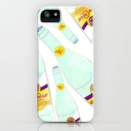 Topo Chico Mexican Sparkling Mineral Water Seltzer Bottle iPhone Case