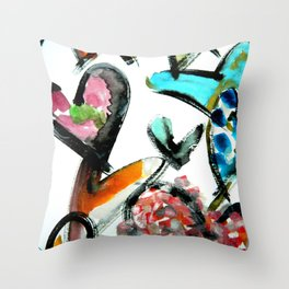 colorful love Throw Pillow