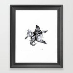 Dompteur d'Elevolant Framed Art Print