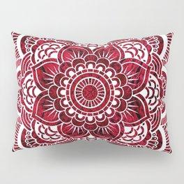 Mandala Red Colorburst Pillow Sham