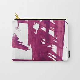 Cranberry brushstroke [1]: a bold, simple, abstract piece in purple Carry-All Pouch