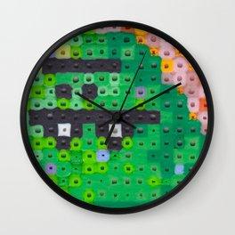 Perler bead monster Wall Clock