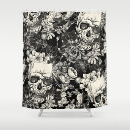 SKULLS HALLOWEEN SKULL Shower Curtain