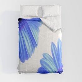 Blue Gerbera Flowers Comforters