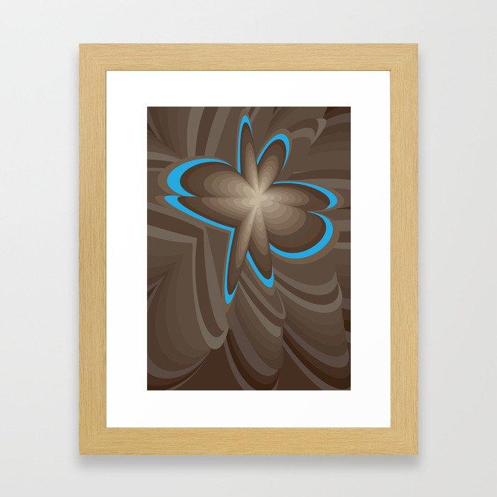Wood flower 1 Framed Art Print