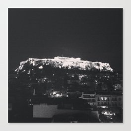 Akropoli - When in Athens  Canvas Print