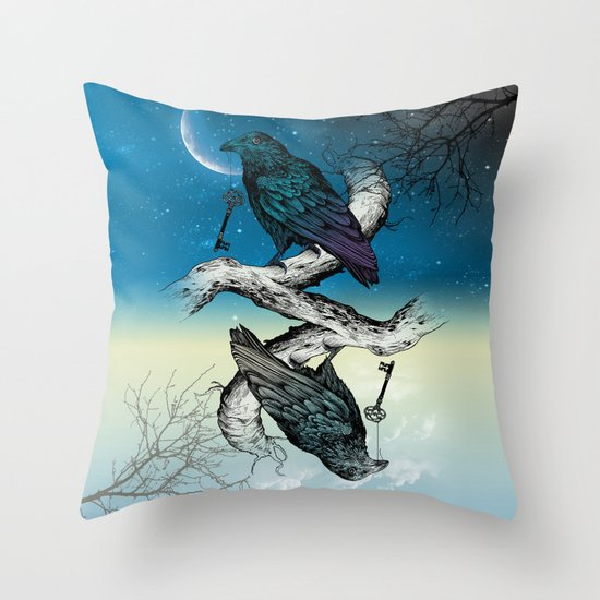 Raven's Key Night+Day Throw Pillow