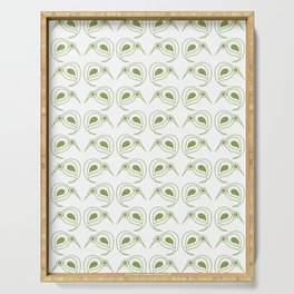 Green kiwi pattern Serving Tray