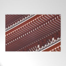 Pagoda roof pattern Welcome Mat