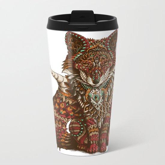 Red Fox (Color Version) Metal Travel Mug