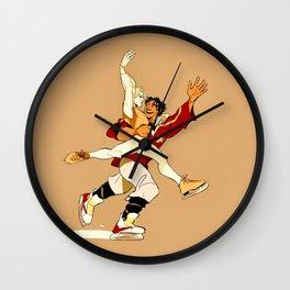 Damen & Laurent skating AU Wall Clock