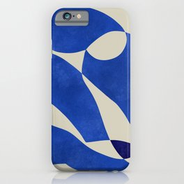 Blue Nude Geometric Modern Print iPhone Case