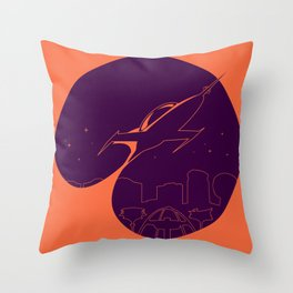 Future Adventures Graphic Throw Pillow