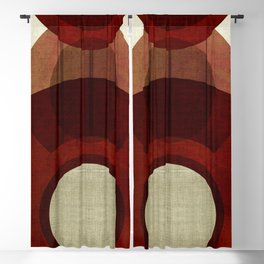 """Retro Abstract Big Circle"" Blackout Curtain"