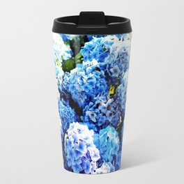 Blue flowers all summer  Travel Mug