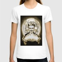 tesla T-shirts featuring Nikola Tesla by Kitchimama