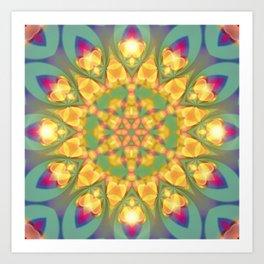 Magical Bohemian Sunflower Art Print