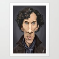 benedict Art Prints featuring Celebrity Sunday ~ Benedict Cumberbatch by rob art | illustration