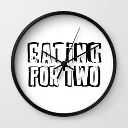 Eating for Two Wall Clock