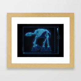 At-At Anatomy Framed Art Print