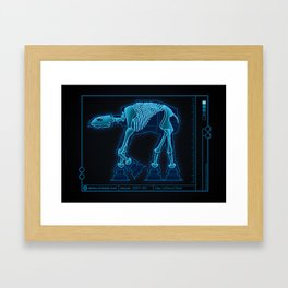 At-At Anatomy Framed Art Print