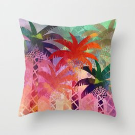Date Palm Oasis Throw Pillow