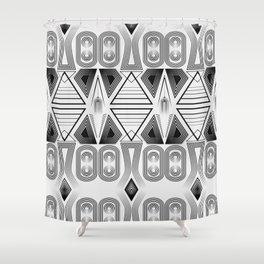 "Art Deco. ""Black and light gray"" 28 . Shower Curtain"