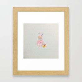 Toddlers Easter Bunny Costume Rabbit Framed Art Print